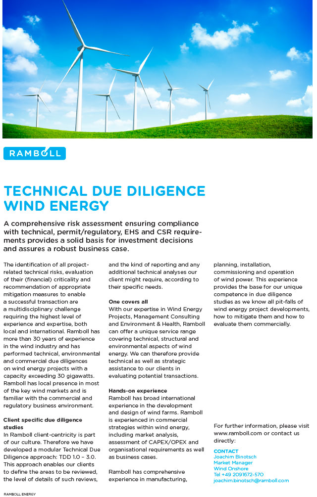 Ramboll provides expert planning, engineering and consulting services throughout the project life cycle of wind energy projects.