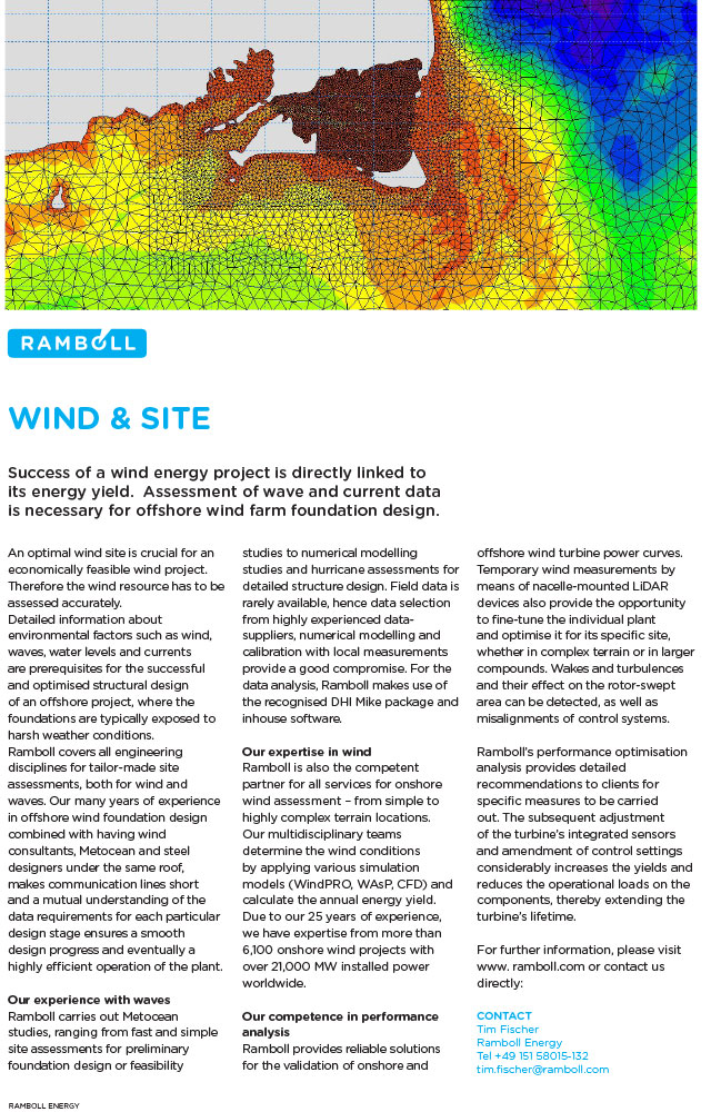 Success of a wind energy project is directly linked to its energy yield. Assessment of wave and current data is necessary for offshore wind farm foundation design