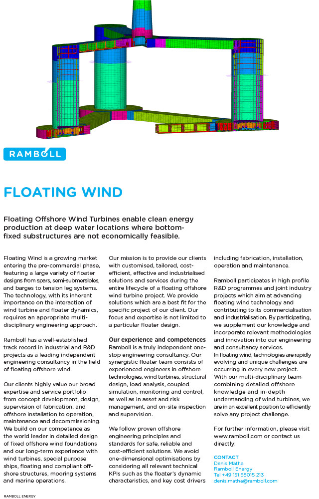 Floating Offshore Wind Turbines enable clean energy production at deep water locations where bottom-fixed substructures are not economically feasible.