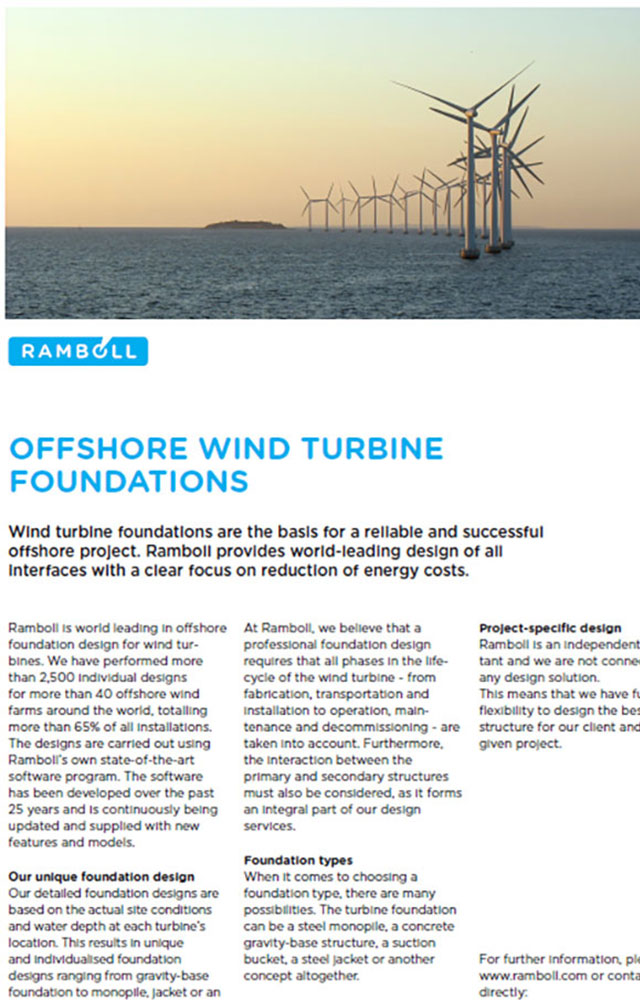Offshore wind turbine foundations