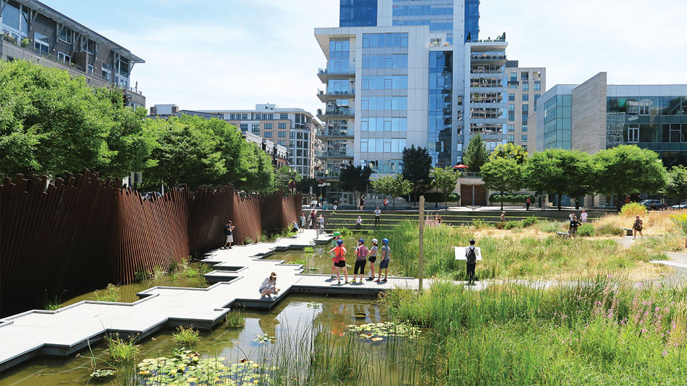 bgi connects urban hydrological functions with urban nature landscape design and planning thereby using the blue water and green nature