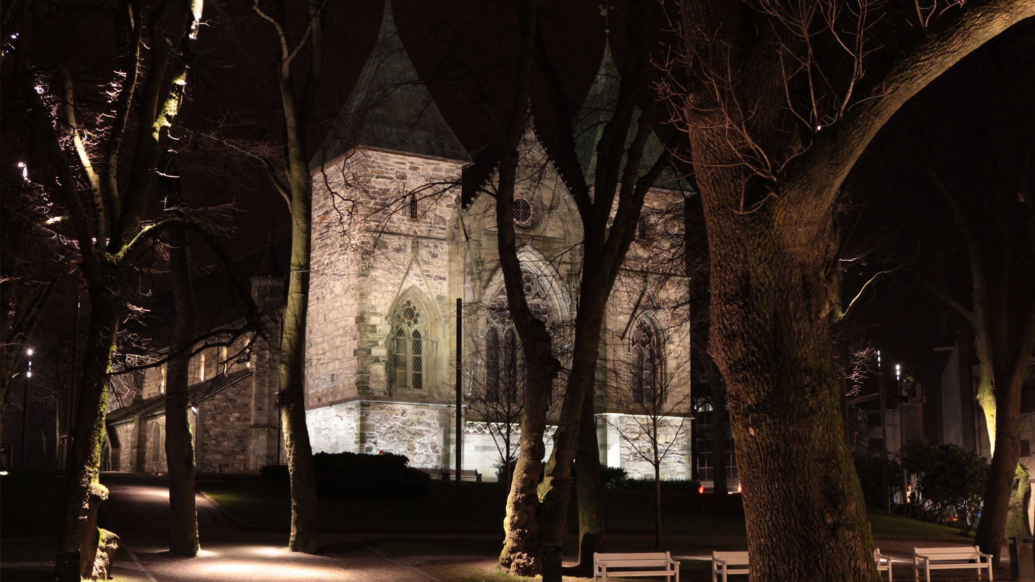 Stavanger Cathedral Lighting