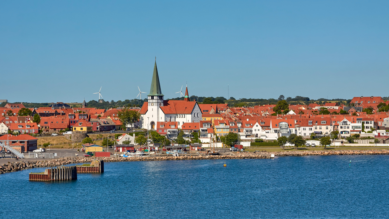 View of Ronne in Bornholm