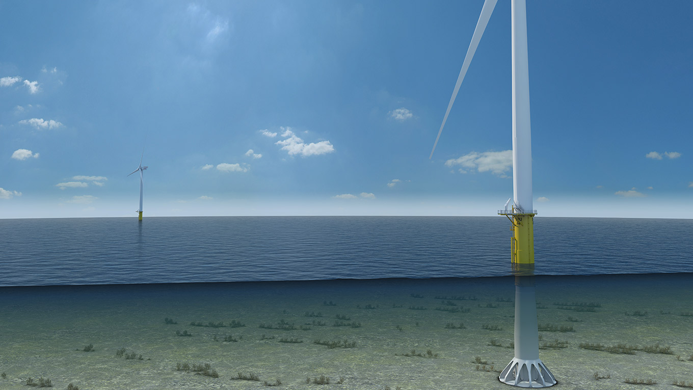 Universal Foundation and Ramboll have established a close collaboration on a recent offshore wind project concerning the design and certification of the Mono Bucket concept shown in the picture below including load iterations with MHI Vestas.