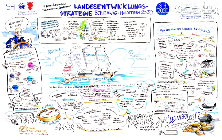 Creative graphic recording from one of the regional conferences (click to enlarge)