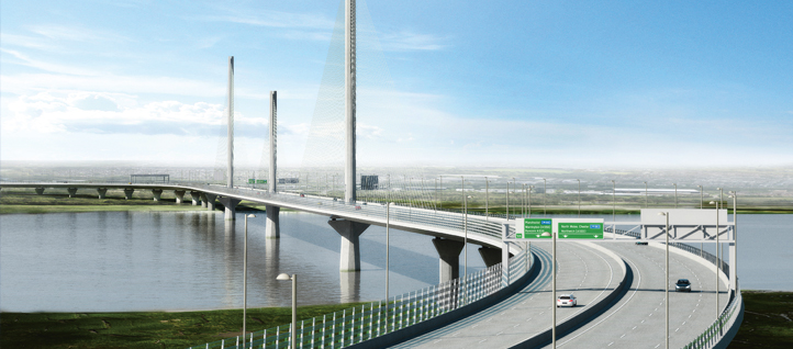 The Mersey Gateway bridge in the UK
