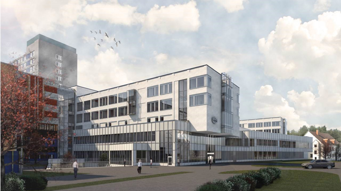 Eskilstuna Hospital. Illustration: Carlstedt Arkitekter