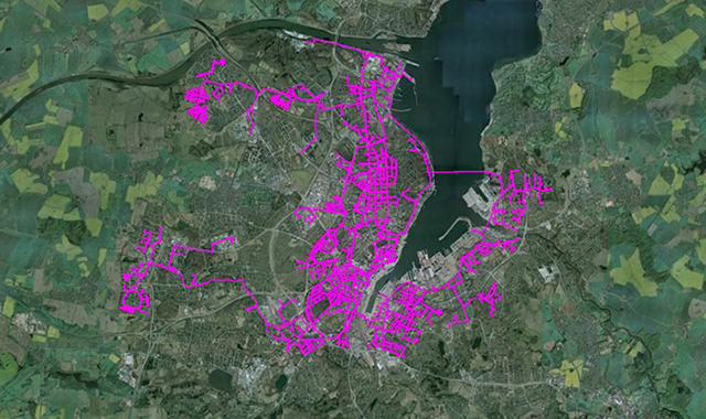 District Heating network in Kiel, Germany