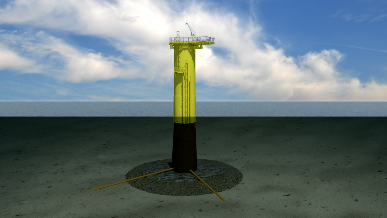 Offshore wind monopile foundation