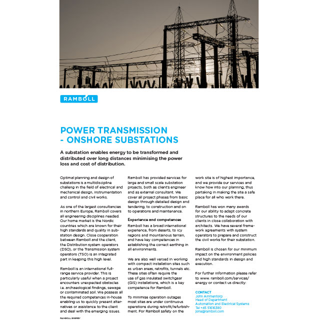 Power transmission & distribution - Ramboll Group