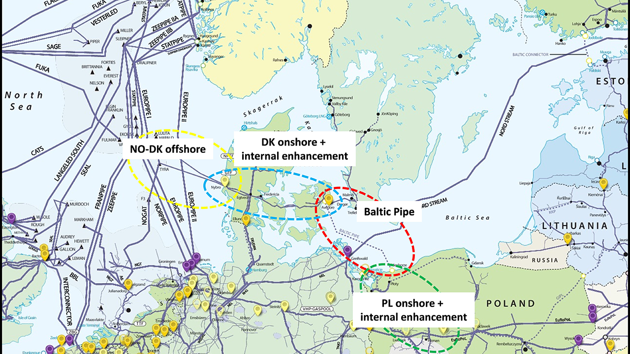 Pipelines Subsea Ramboll Group Piping Layout Concepts Baltic Pipe Map