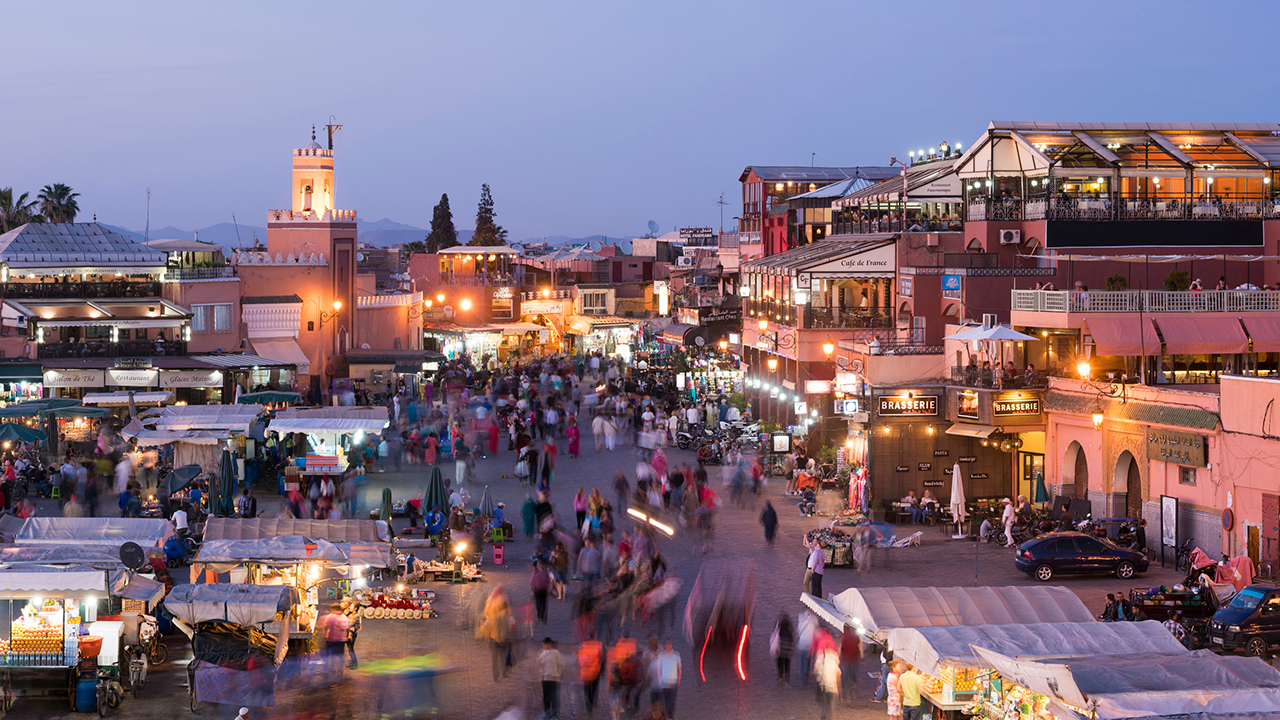 The Marrakech market in Morocco where Ramboll in joint venture with Sofregaz has been chosen as technical advisor for the Gas-to-Power that will secure supply and diversify the energy mix in Morocco