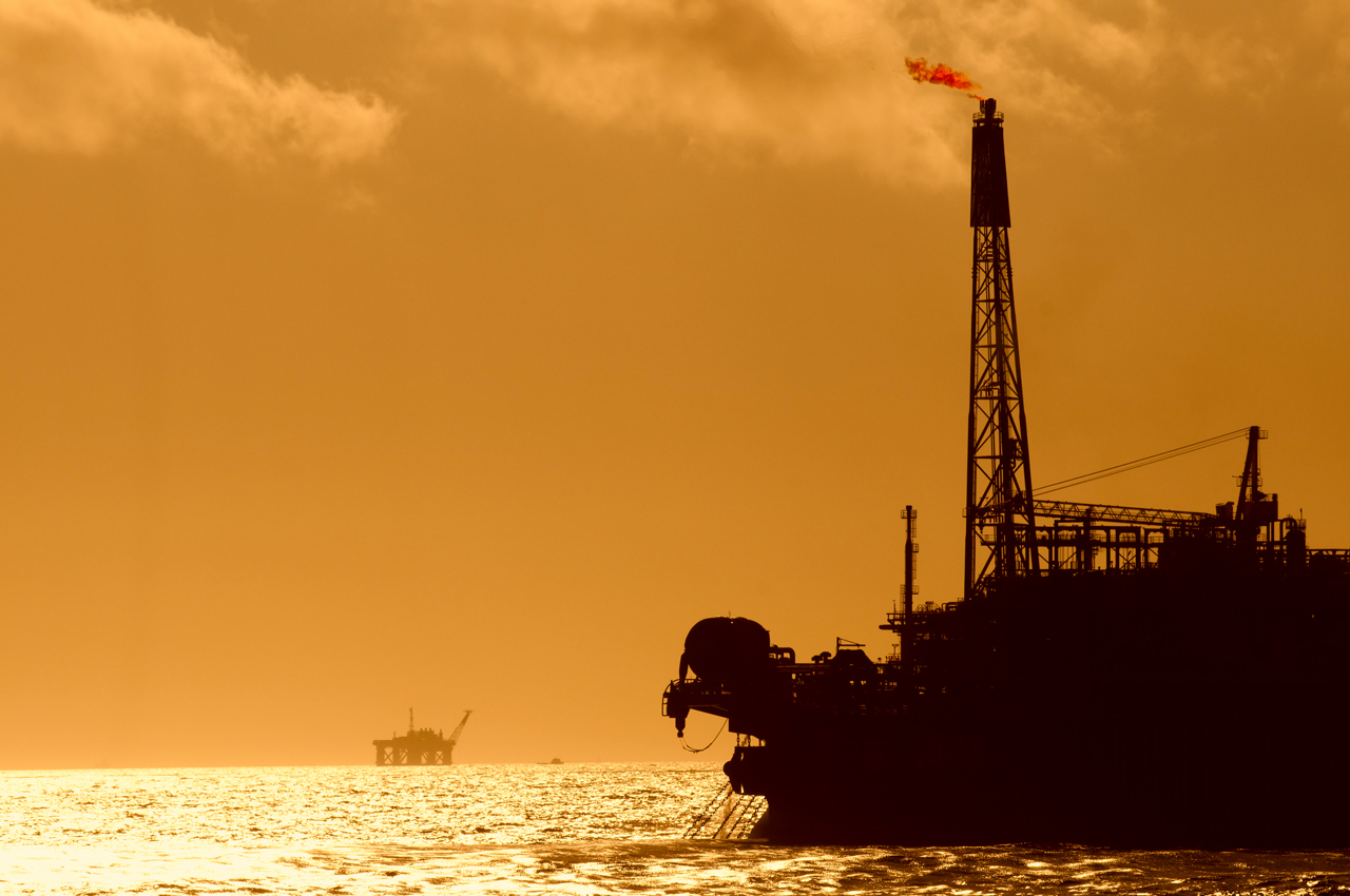 FPSO in the sunset