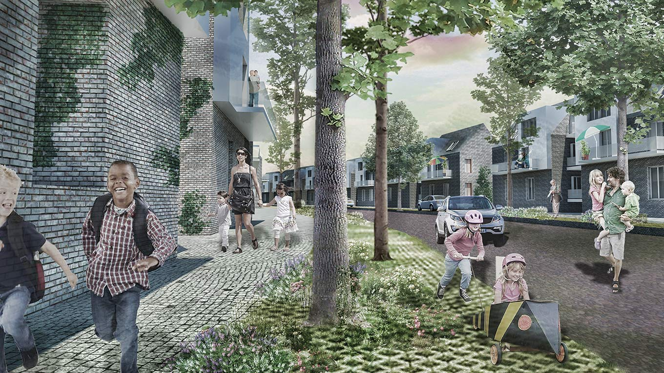 Visualisation: Liveability in a residential area, Masterplanning Tiblisi, Georgia