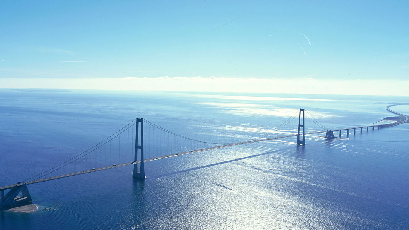 Storebælt (the Great belt fixed link), Denmark