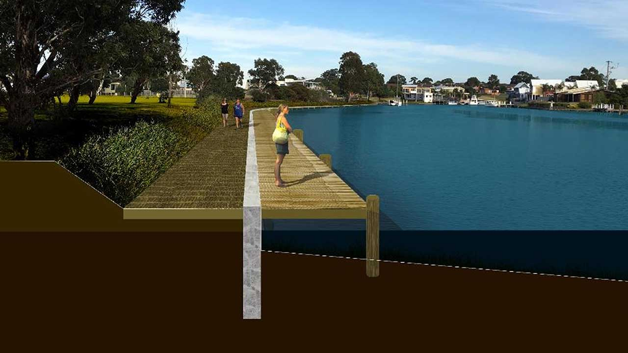 Concept Design For Coastal Flooding Adaptation at Burrabogie Island
