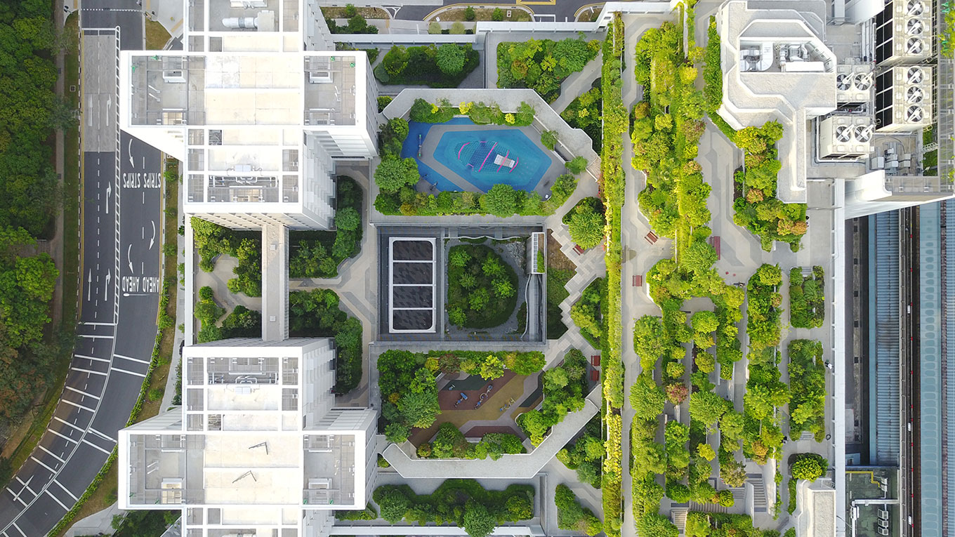 Kampung Admiralty - view from above