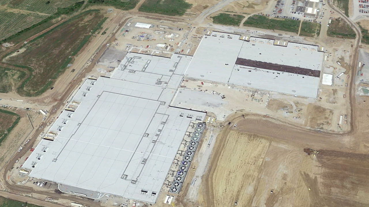 Expansion of data center requiring additional water for cooling towers. Photo from Google