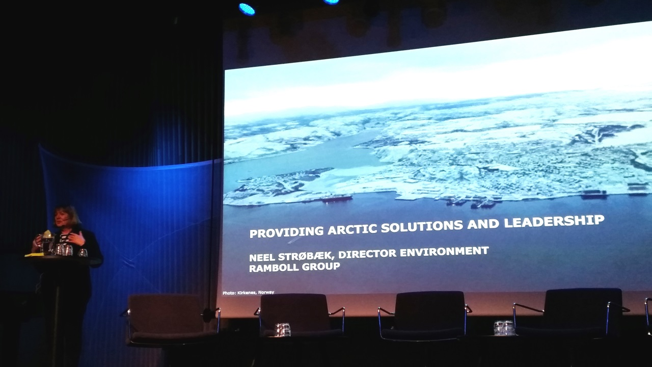 Neel Strøbæk, Group Director for Water and Environment at Ramboll, gave a keynote speech at the Arctic Frontiers conference on January 21, 2015