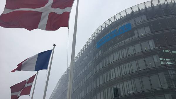 Flags flying high in front of Ramboll head office at the occasion of the visit by 75 French mayors, deputy mayors, developers and managers from municipalities around Paris on Thursday October 5.