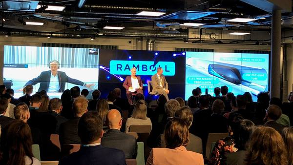 Accelerating innovation: participants enjoying the insights of (from left) Nick Earle from Virgin Hyperloop One, moderator Ola Ahlvarsson, and Malcolm Sjödahl from Ramboll Sweden