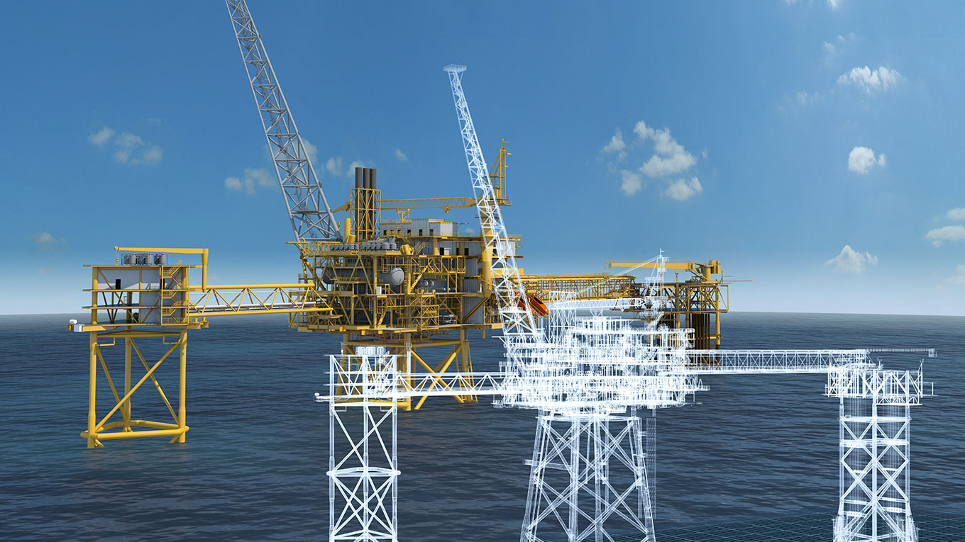 Visualisation offshore platforms