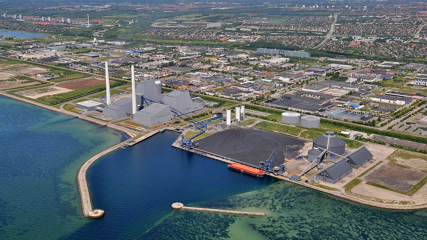 Aerial photo of the Avedøre 1 CHP plant