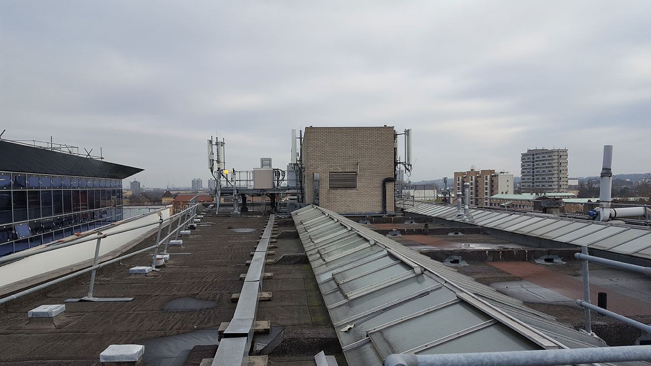 Rooftop with antennas