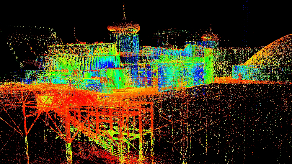 3D scan of Brighton pier