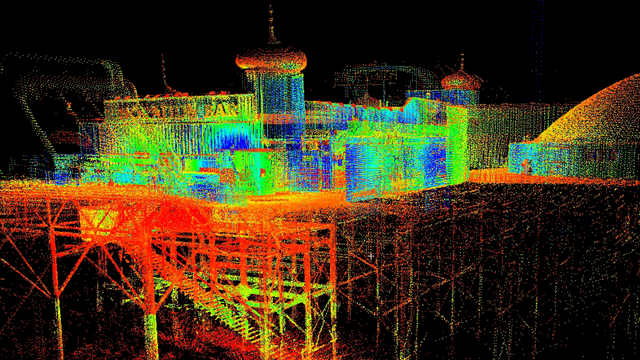 3D spatial model of Brighton Pier from laser scan