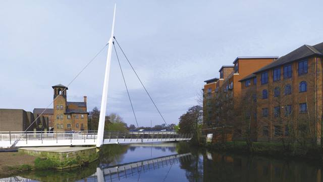 Lightworks Photography. A groundbreaking variation on the cable-stayed swing bridge form