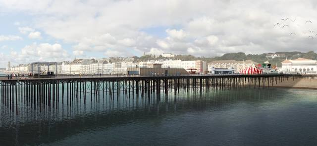 dRMM. Overall design for Hastings Pier by dRMM architects. The 272m long Hastings Pier now features a refurbished pavilion and new visitor centre.