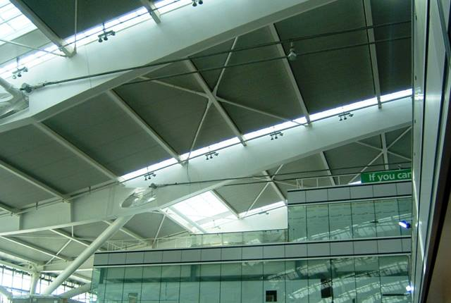 Ramboll. At Heathrow T5, clear space basement level -2 up to the third floor passenger transport platform allows natural daylight throughout the full height of the building.