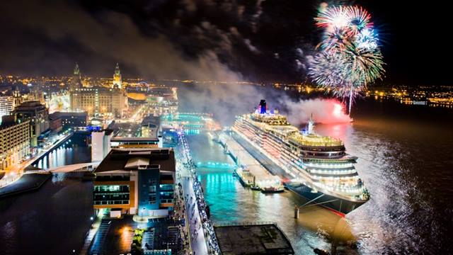 Liverpool cruise liner terminal. Queen Victoria. Image: Liverpool City Council