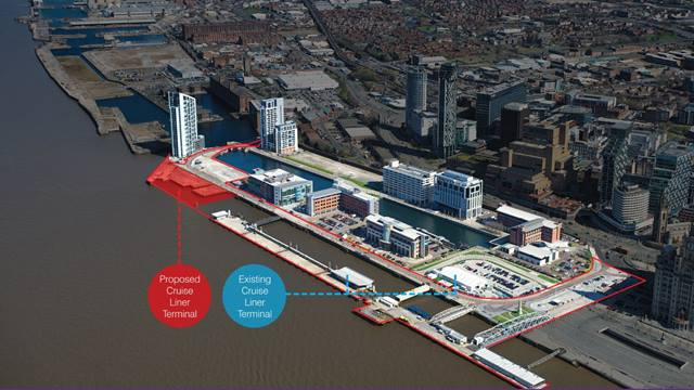 Liverpool City Council. Subject to approvals, plans for the new £50m Mersey Cruise Terminal will relocate the existing cruise terminal to a new a landmark building at Princes Dock, in Liverpool Waters.