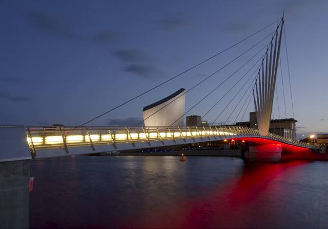 Inside Out. Task lighting and aesthetic lighting is provided on the bridge and its approaches.