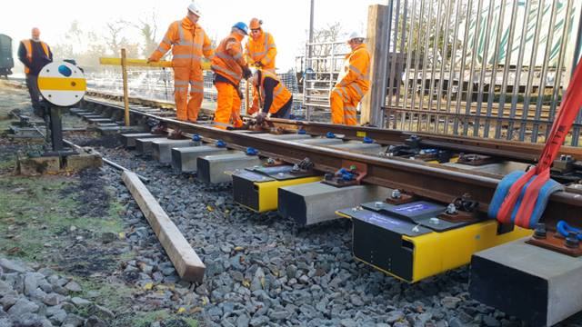 Preparing the full scale demonstration at Great Central Railway's Quorn and Woodhouse station. Photo: Loughborough University
