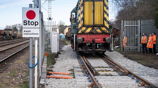 Repoint technology was demonstrated in a realistic environment to TRL 7 level (i.e. Rail Industry Readiness Level 5). Photo: Loughborough University