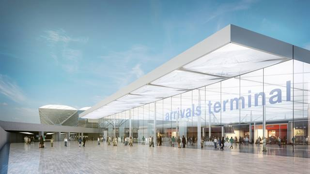 Arrivals terminal. Stansted Airport. Image © Pascall+Watson