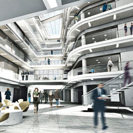 google head office images.  head computer generated simulation of ramboll head office with google images
