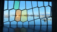 Details from the Harpa glass facade