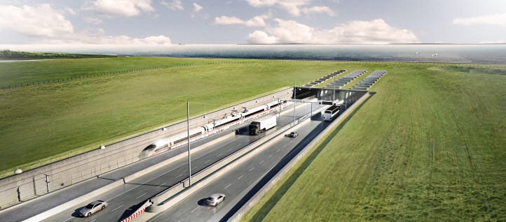 Visualisation of entrance to the Fehmarn Belt Tunnel - Danish side