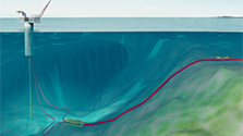 Visualisation of Polarled, 481 km pipeline, to be installed on extremely uneven seabed