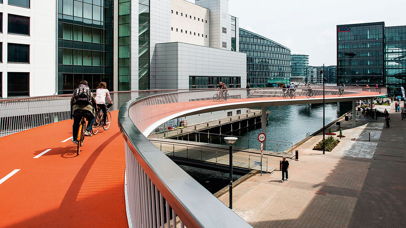 The Bicycle Snake, Copenhagen's elavated bikelane