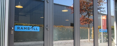 Facade with Ramboll logo