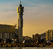 Mosque and cityscape in Jeddah
