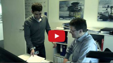 Alvaro Aguado Garcia with his manager - click to watch video on ramboll.tv
