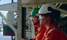 Offshore oil workers