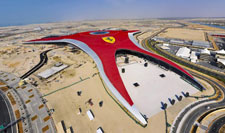 . For the Ferrari theme park building on the island, we among other things prepared the schematic design of its 90,000m2 roof. Image courtesy of Aldar