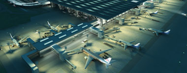 Visualisation of the extension of Pulkovo airport by Ramboll